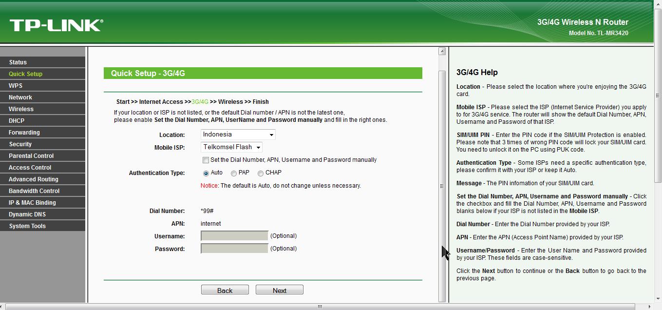Berbagi Koneksi Internet MODEM USB Dengan Wireless Router TP Link MR3420 9 emerer.com