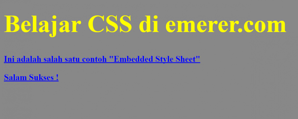 Embedded Style Sheet emerer.com