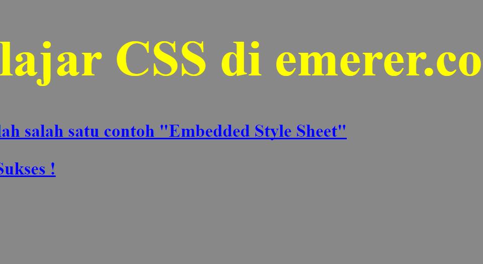 Embedded Style Sheet emerer.com