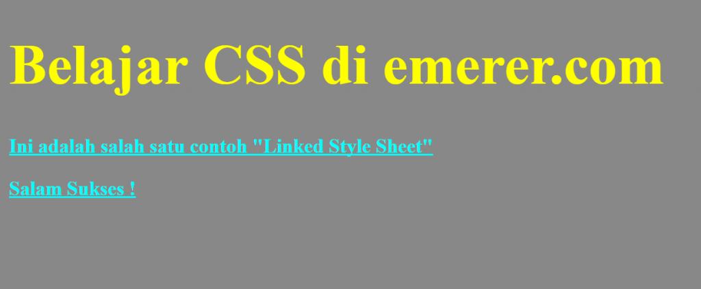 Style css underline link