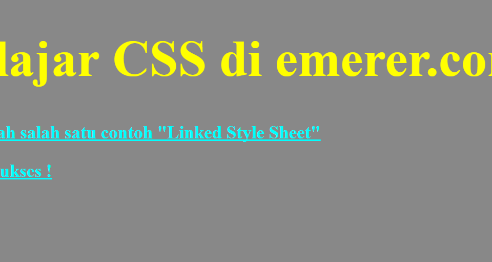 Linked Style Sheet emerer.com CSS