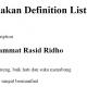 Menggunakan Definition List HTML 5